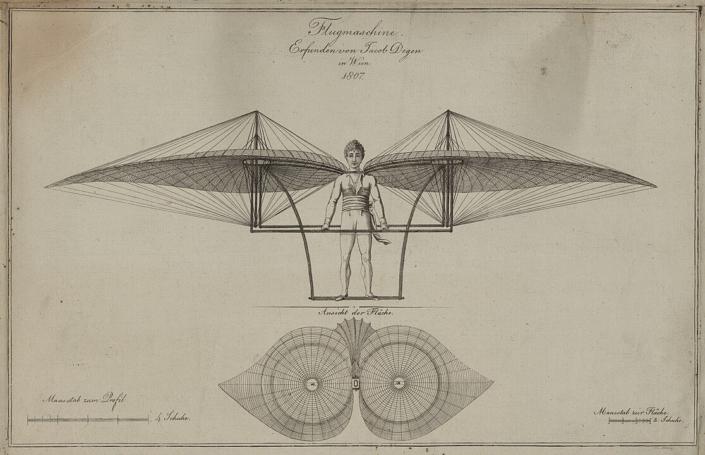 Jakob Degen Flugmaschine